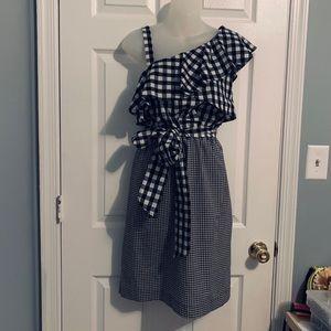 Calvin Klein Gingham Casual Dress Size 8